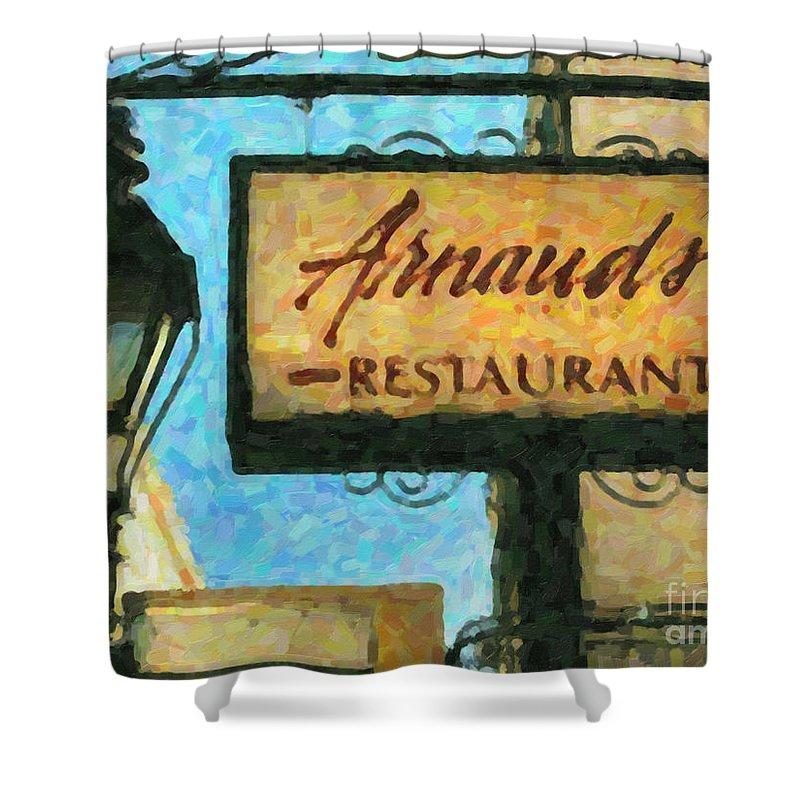 Arnaud's Shower Curtain featuring the photograph Arnauds New Orleans_oil Digital Art by Kathleen K Parker