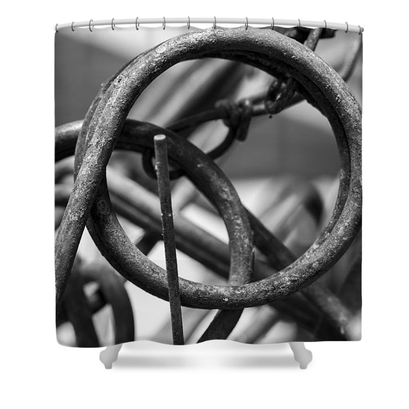Circle Shower Curtain featuring the photograph Around by Fran Riley