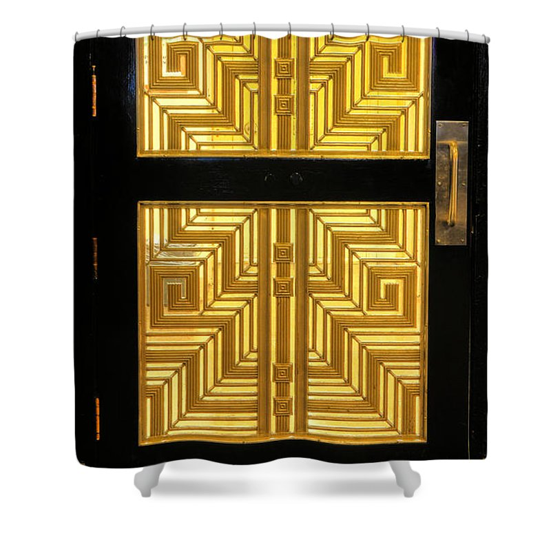 Art Deco Shower Curtain featuring the photograph Art Deco Door by Dave Mills