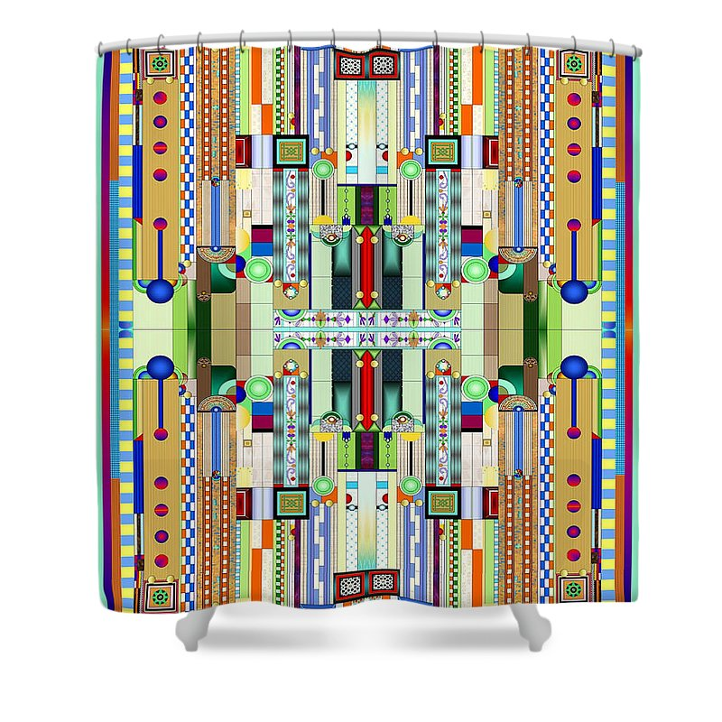 Art Deco Stained Glass 2 Shower Curtain For Sale By Ellen