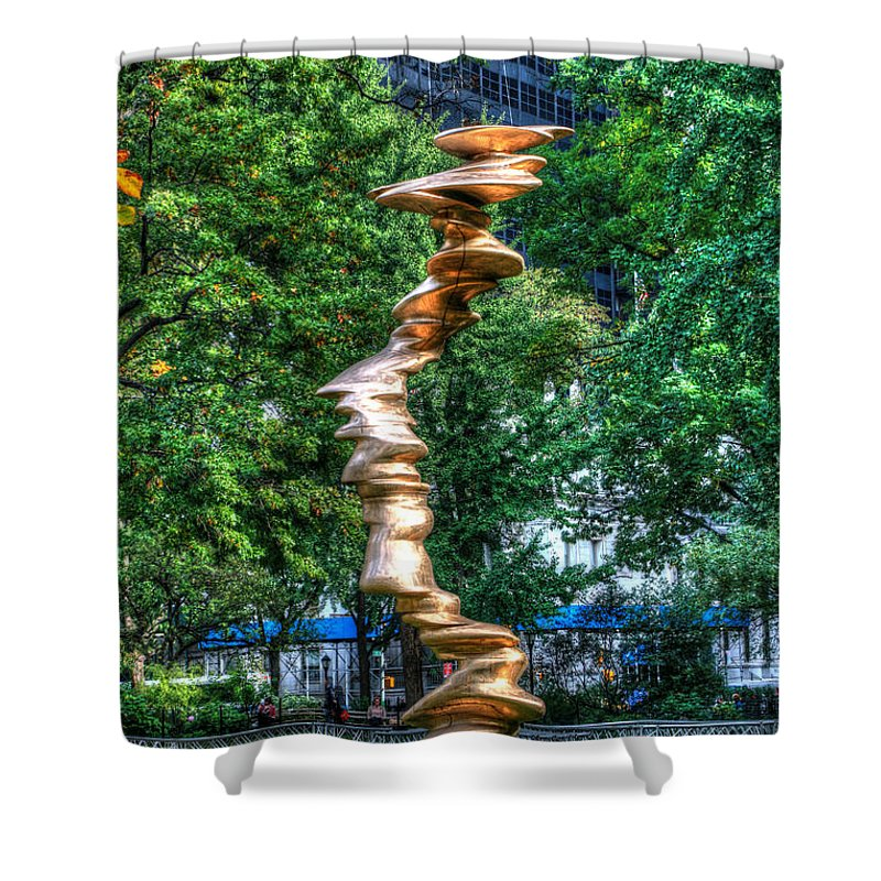 Art In The Park Shower Curtain featuring the photograph Art In The Park by Allen Beatty
