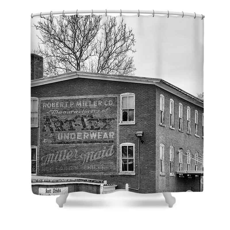 Black And White Shower Curtain featuring the photograph Art Tex And Miller Maids by Jay Ressler