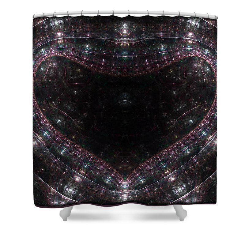Artificial Shower Curtain featuring the digital art Artificial Heart by Brian Kenney