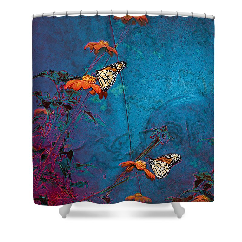 Monarch Shower Curtain featuring the photograph Artistic Butterflies by Sari Sauls