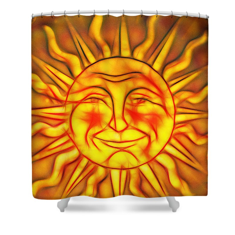 Nightlight Shower Curtain featuring the photograph Artistic Sun Nightlight by Don Johnson