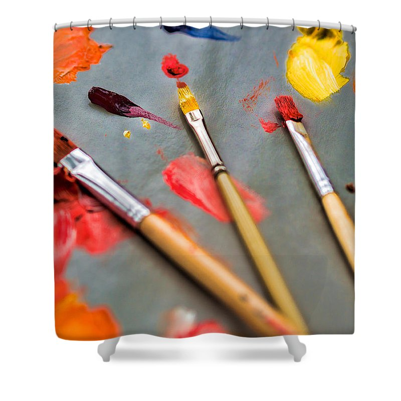 Artist Shower Curtain featuring the photograph Artist's Palette by David Kay