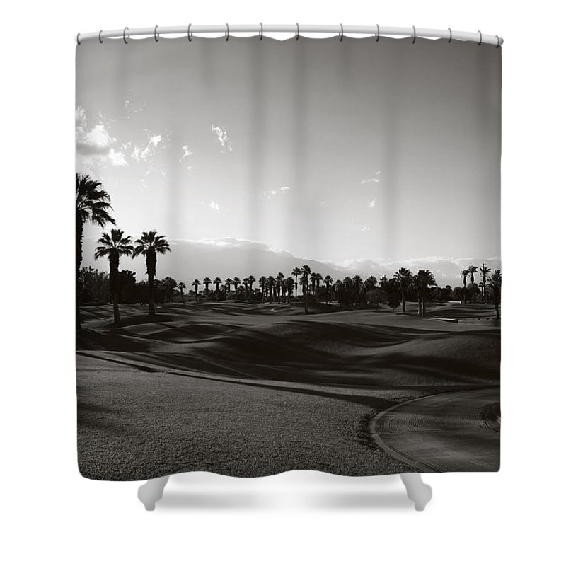 Palm Desert Shower Curtain featuring the photograph As Shadows Spread Across The Land by Laurie Search