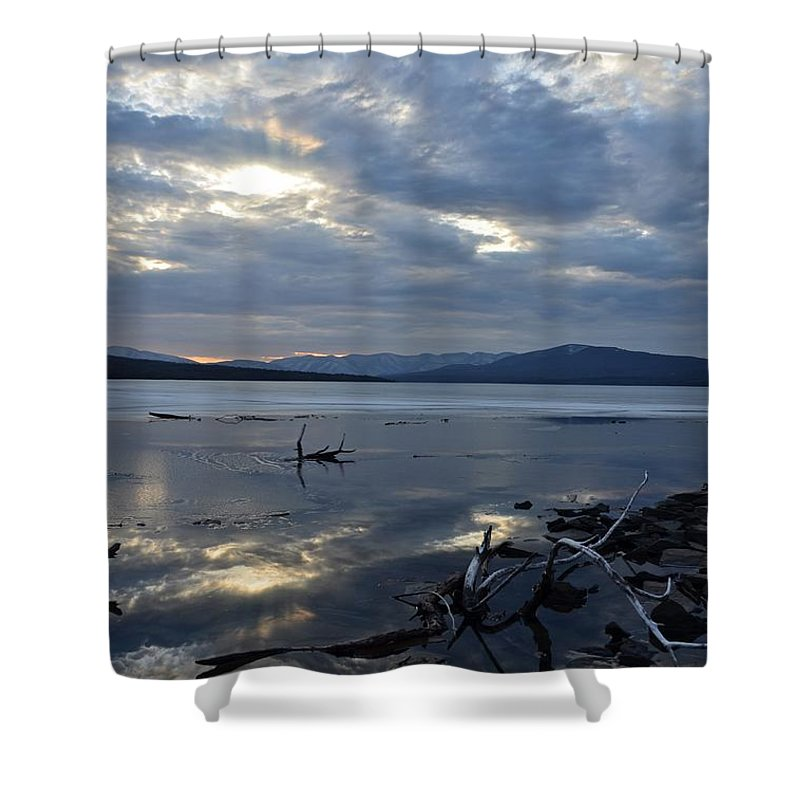 Water Shower Curtain featuring the photograph Ashokan Reservoir 17 by Cassie Marie Photography