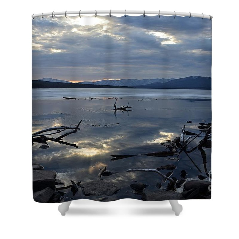 Water Shower Curtain featuring the photograph Ashokan Reservoir 19 by Cassie Marie Photography