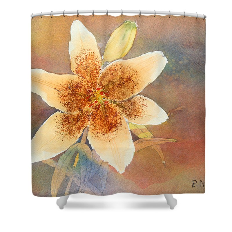Lily Shower Curtain featuring the painting Asiatic Lily by Patricia Novack
