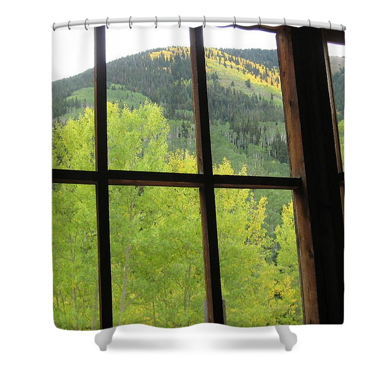 Ashcroft Shower Curtain featuring the photograph Aspens In Ashcroft by Tonya Hance