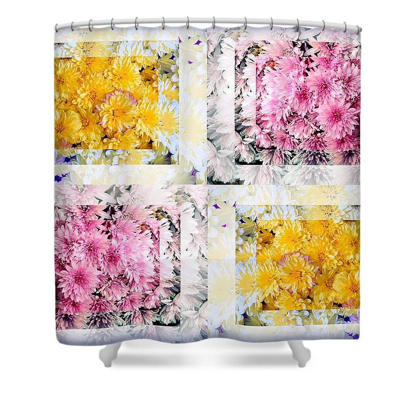 Flowers Shower Curtain featuring the photograph Aster Mix 01 by Stephanie Knight