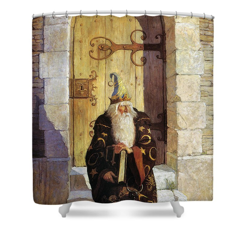1916 Shower Curtain featuring the photograph Astrologer, 1916 by Granger