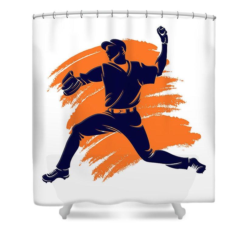 Astros Shower Curtain featuring the photograph Astros Shadow Player2 by Joe Hamilton