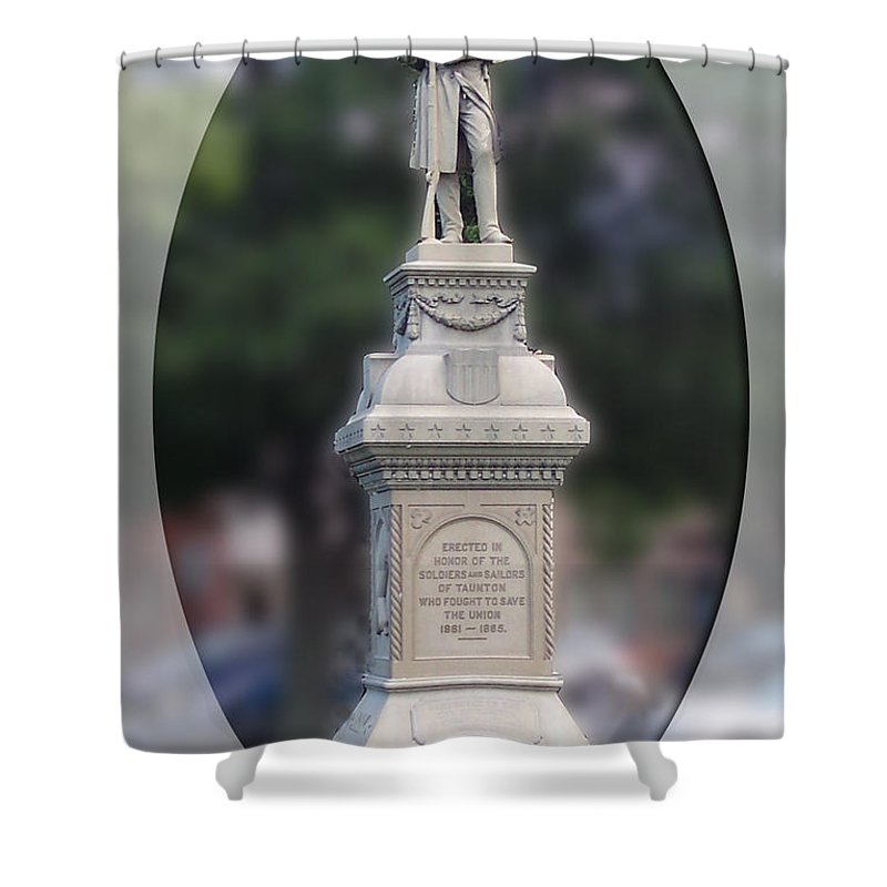 Soldier Shower Curtain featuring the photograph At Ease Soldier by Georgia Hamlin