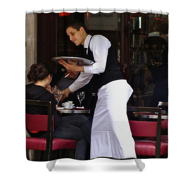 Paris Shower Curtain featuring the photograph At Your Service by Ira Shander
