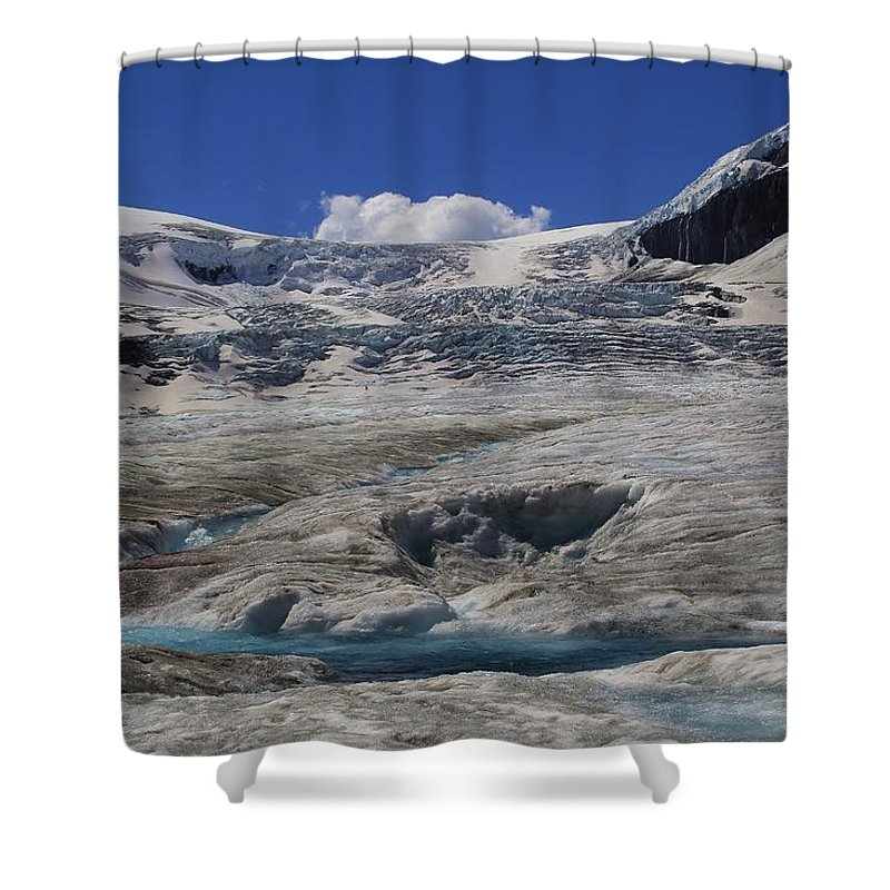 Athabasca Glacier Shower Curtain featuring the photograph Athabasca Glacier 1 by Mo Barton