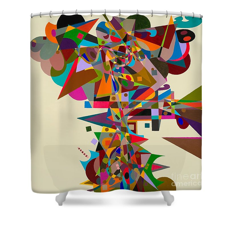 Landscape Shower Curtain featuring the painting Atherton by Allan P Friedlander