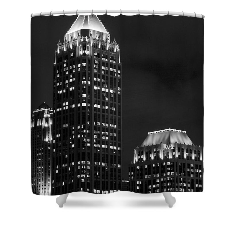 Cityscape Shower Curtain featuring the photograph Atlanta At Night by Ayesha Lakes