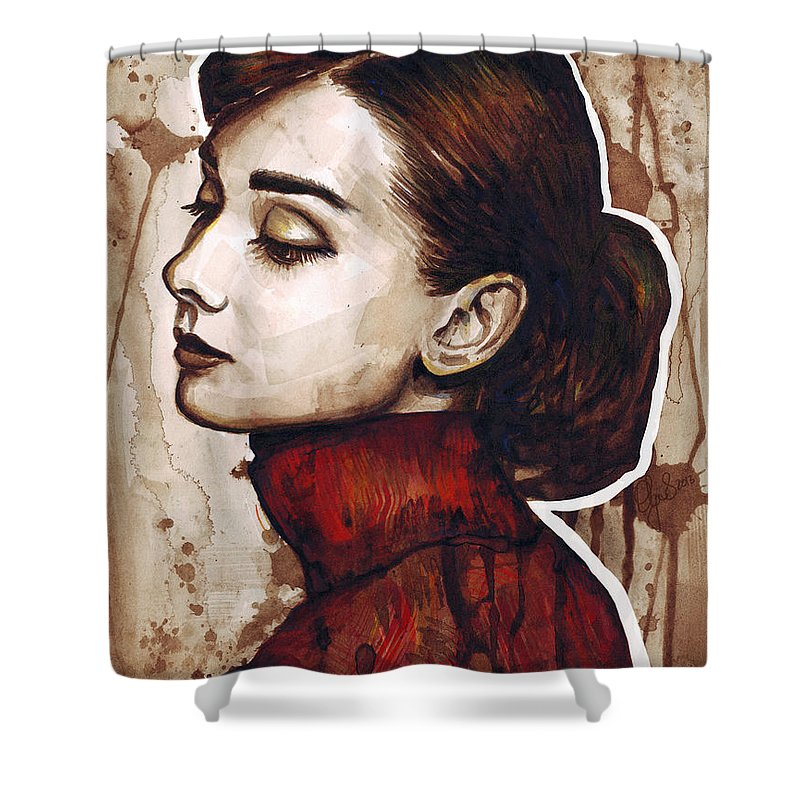 Audrey Hepburn Shower Curtains