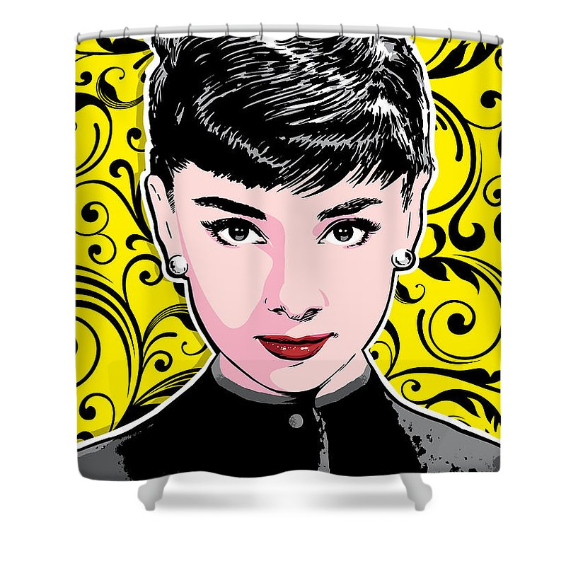 Audrey Hepburn Pop Art Shower Curtain for Sale by Jim Zahniser