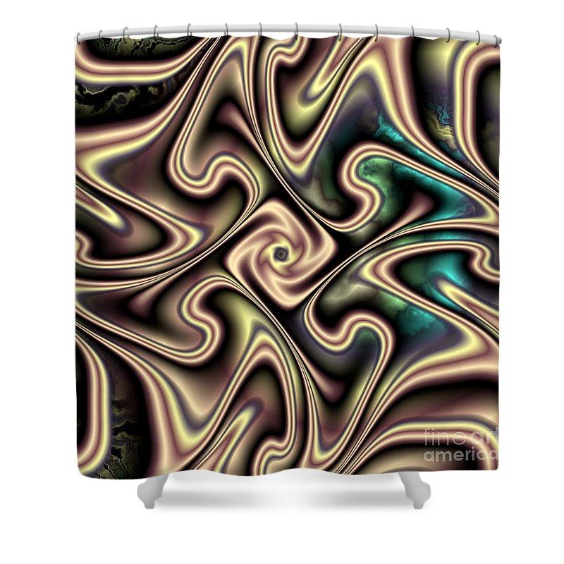 Aurora Shower Curtain featuring the digital art Aurora by Kimberly Hansen