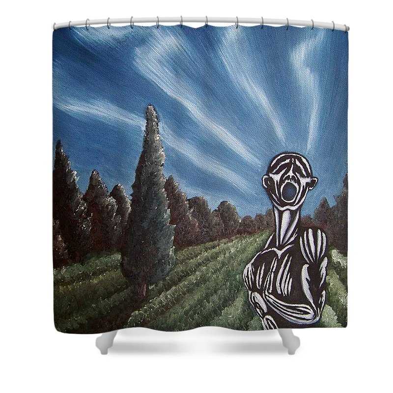 Tmad Shower Curtain featuring the painting Aurora by Michael TMAD Finney