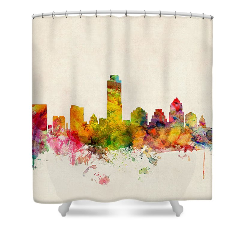 Austin Skyline Shower Curtains