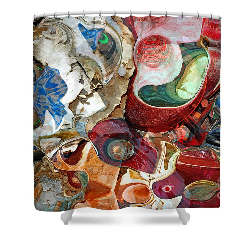 Abstract Shower Curtain featuring the photograph Automobile Repairs by Gwyn Newcombe