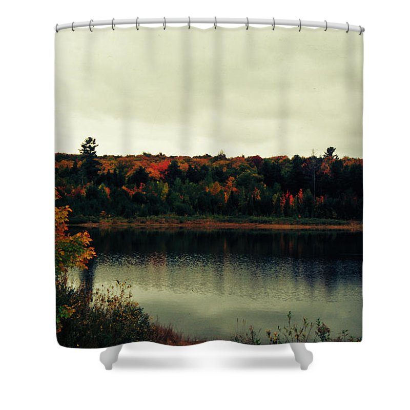 Color Slide Film Shower Curtain featuring the photograph Autumn At Deer Lake by Kim Ruley