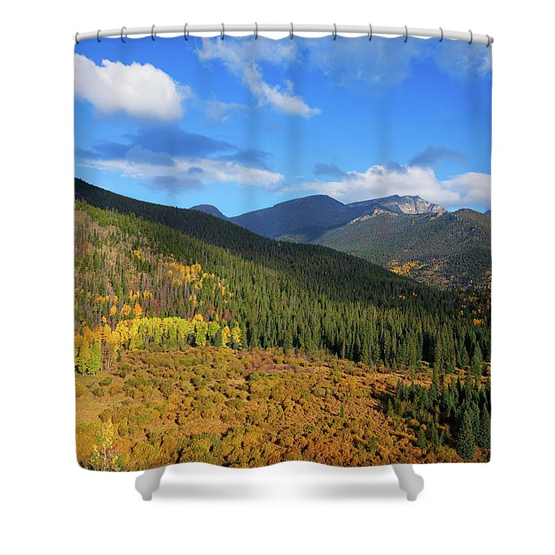 Scenics Shower Curtain featuring the photograph Autumn Color In Colorado Rockies by A L Christensen