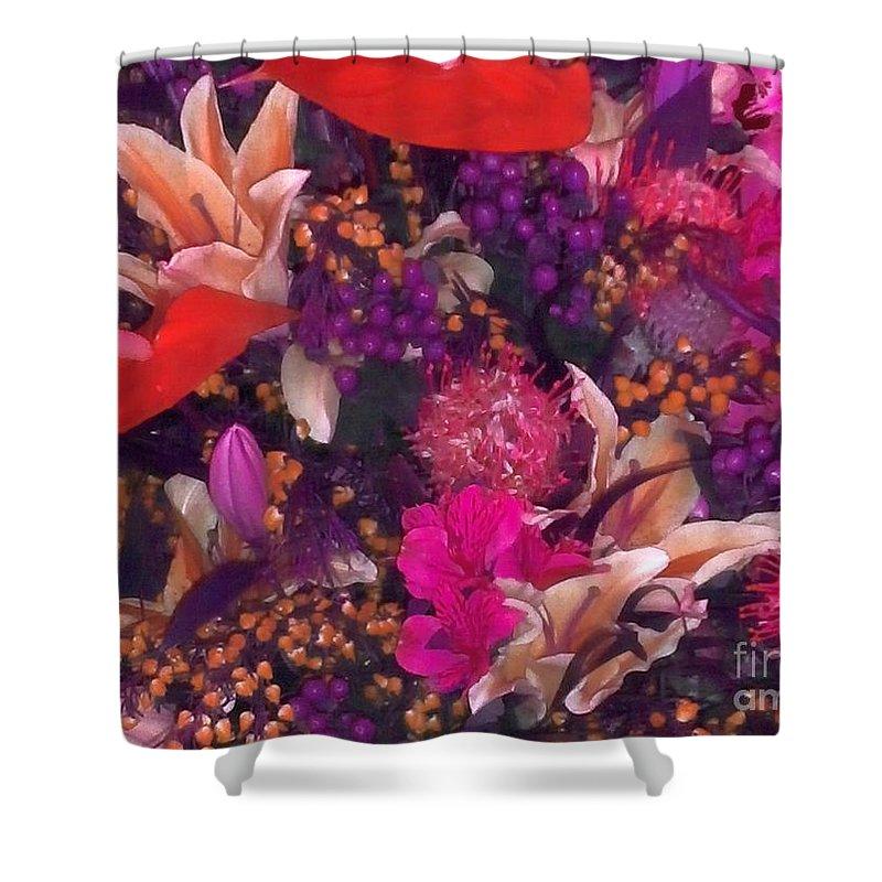 Bush Shower Curtain featuring the photograph Autumn Flower Bouquet by Joseph Baril