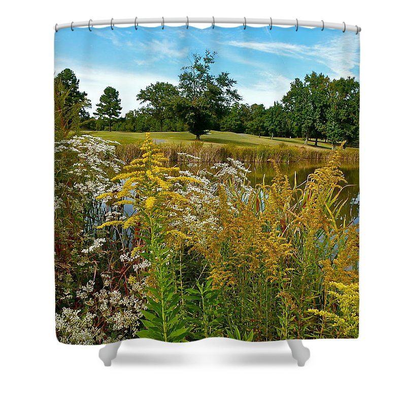 Pond Shower Curtain featuring the photograph Autumn Golf by Jean Wright