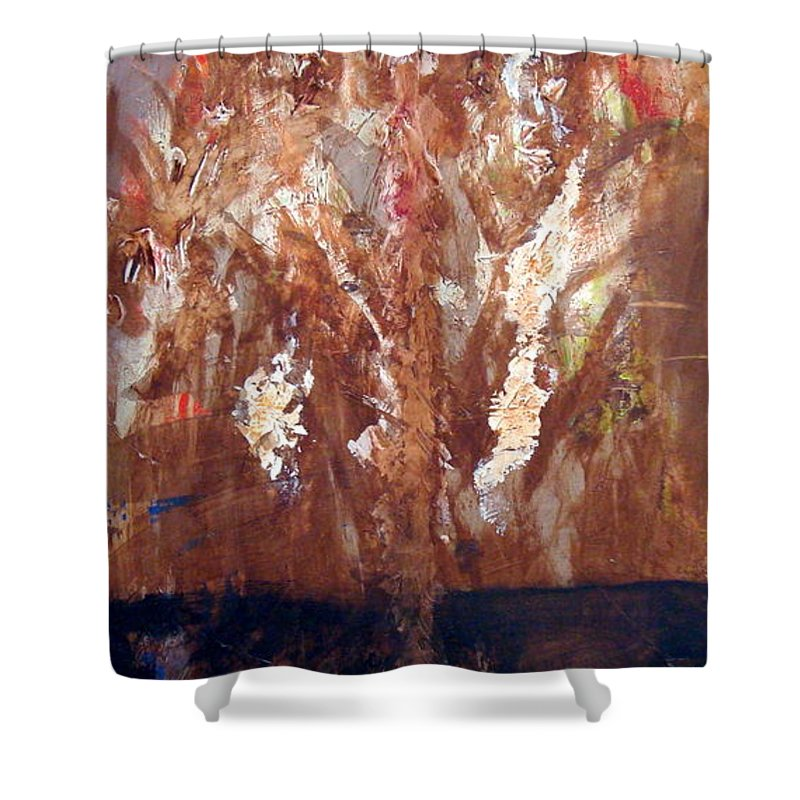Autumn Shower Curtain featuring the painting Autumn by Holly Picano