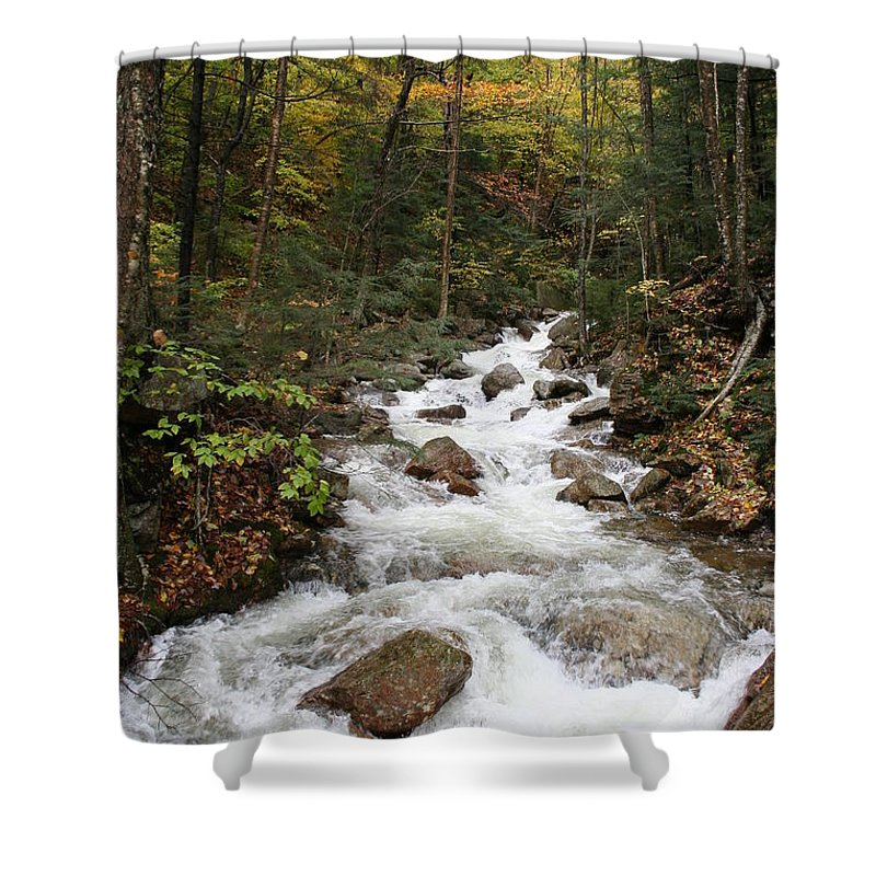Franconia Notch Shower Curtain featuring the photograph Franconia Notch In Autumn by Christiane Schulze Art And Photography