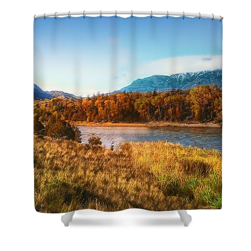 Autumn Shower Curtain featuring the photograph Autumn In Montana by Thomas Woolworth