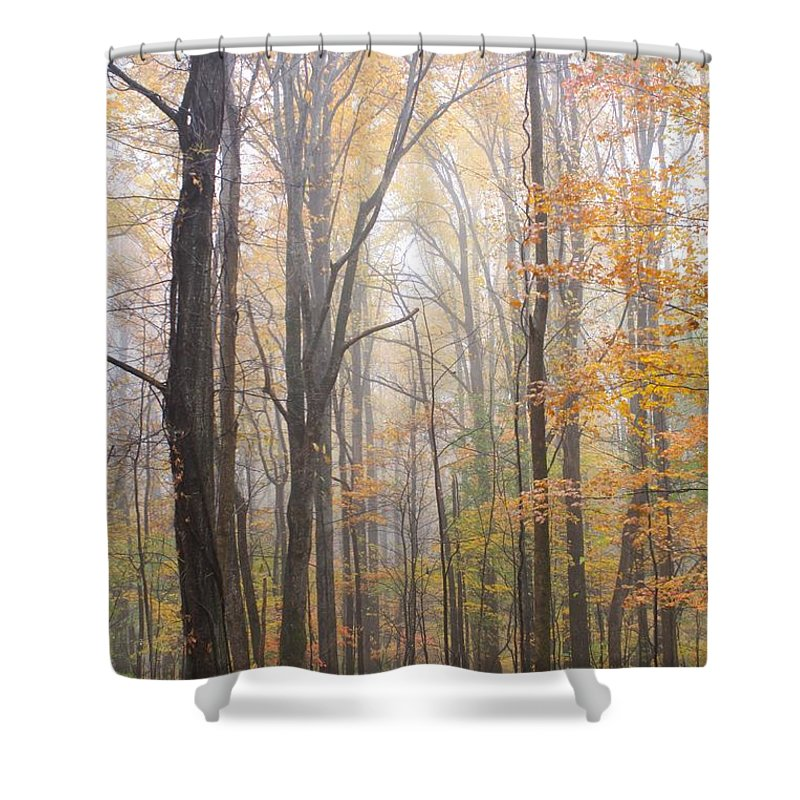 Smoky Mountains Shower Curtain featuring the photograph Autumn In The Smoky Mountains by Nunweiler Photography