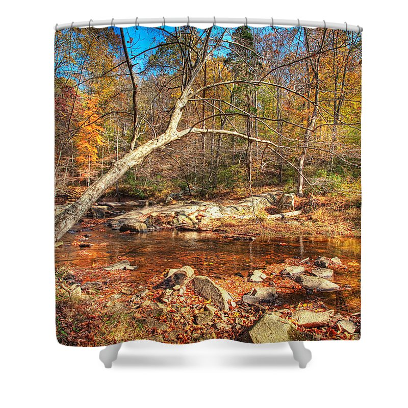 Landscape Shower Curtain featuring the photograph Autumn In Virginia by Michael Clubb