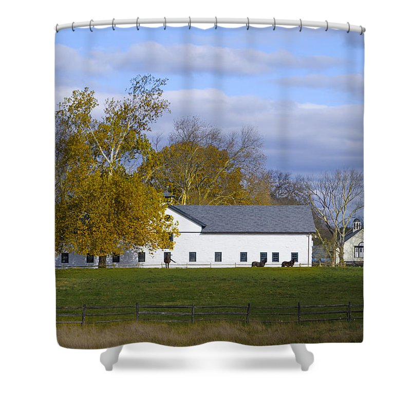 Autumn Shower Curtain featuring the photograph Autumn In Whitemarsh by Bill Cannon