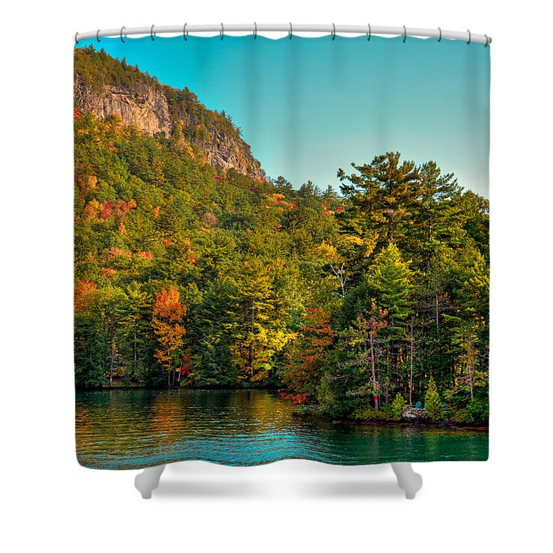 Adirondack's Shower Curtain featuring the photograph Autumn On Lake George by David Patterson