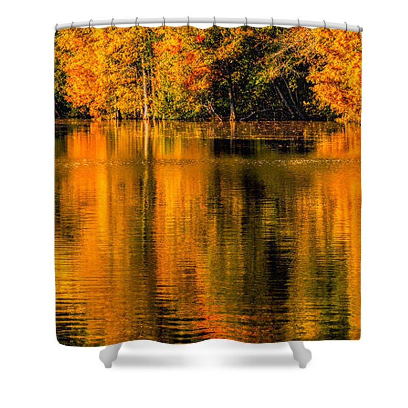Autumn Shower Curtain featuring the photograph Autumn Reflections by David Kay