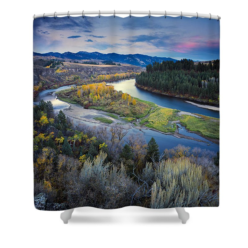 Autumn Shower Curtain featuring the photograph Autumn River by Leland D Howard