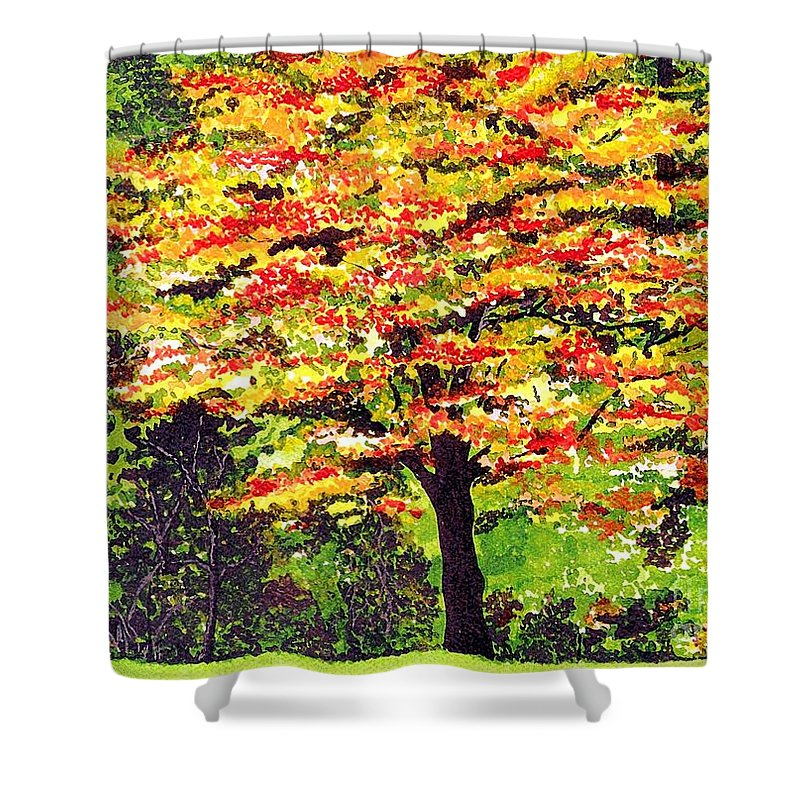 Fine Art Shower Curtain featuring the painting Autumn Splendor by Patricia Griffin Brett