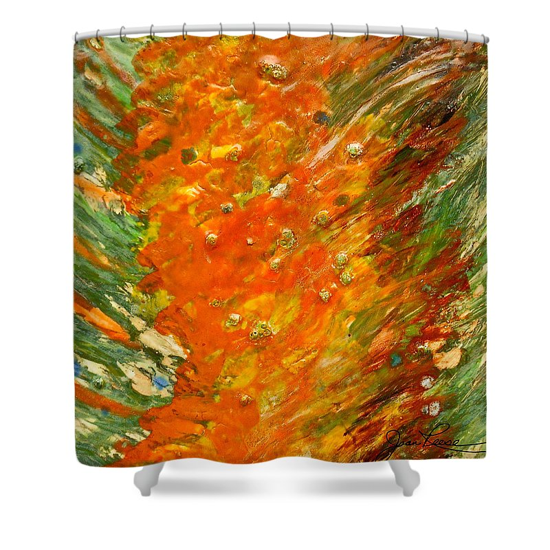 Abstract Painting Shower Curtain featuring the painting Autumn Wind by Joan Reese