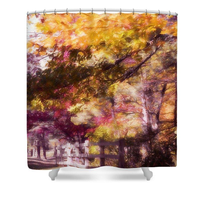 Fall Shower Curtain featuring the photograph Autumn Xxxxii by Tina Baxter