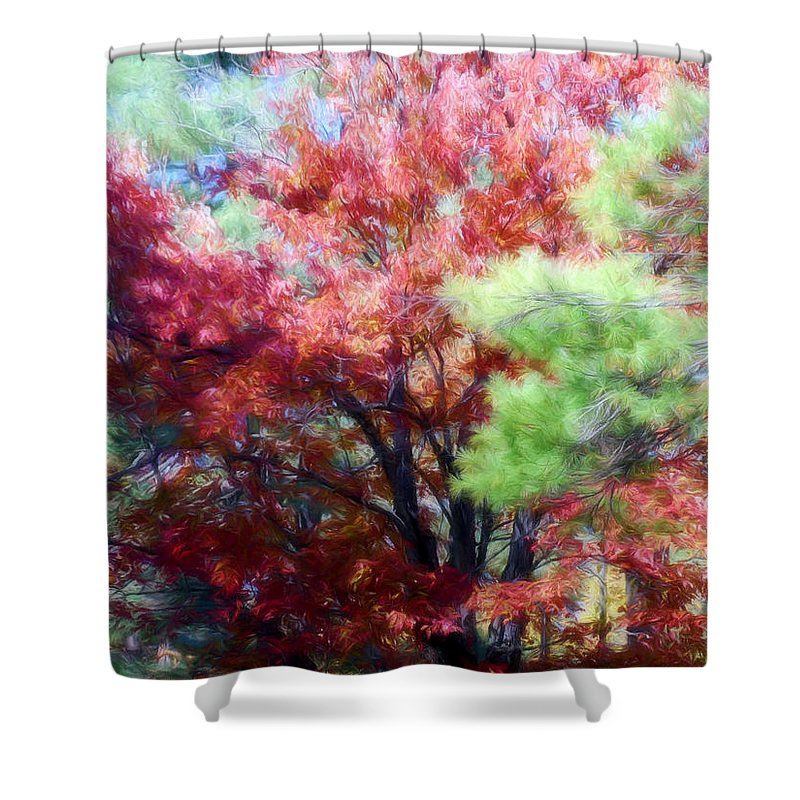 Fall Shower Curtain featuring the photograph Autumn Xxxxiv by Tina Baxter