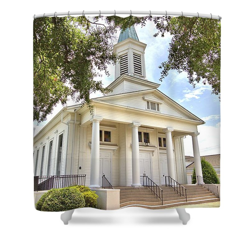 6311 Shower Curtain featuring the photograph Awaiting The Congregation by Gordon Elwell