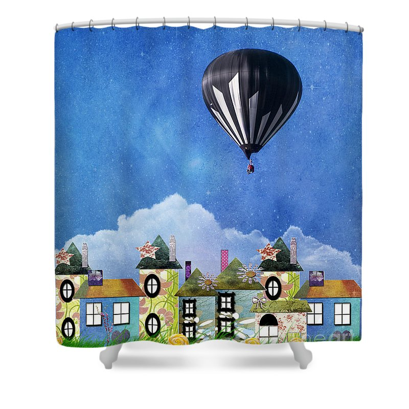 Activity Shower Curtain featuring the photograph Away Above The Chimney Tops by Juli Scalzi
