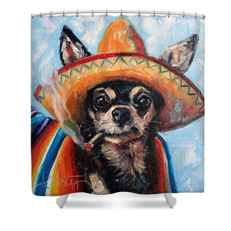 Ay Chihuahua Shower Curtain For Sale By Kristy Tracy