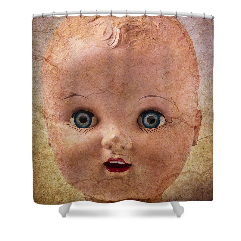 Baby Shower Curtain featuring the photograph Baby Doll Face by Garry Gay